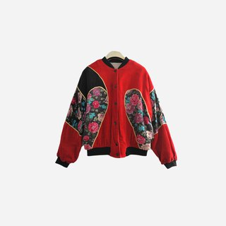 Dislocation vintage / corduroy flower stitching jacket no.897 vintage