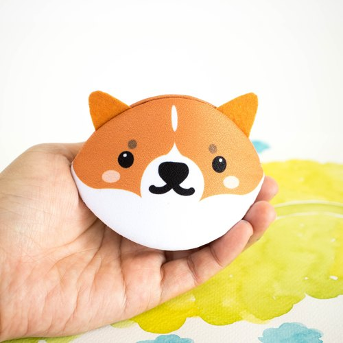 Corgi dog  Accessory purse /coin purse/ Japanese style bag / Birthday gift.