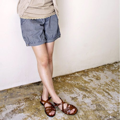 SALE30% OFF [armoire *] Arumowaru * Hickory denim gather shorts [ma-80]