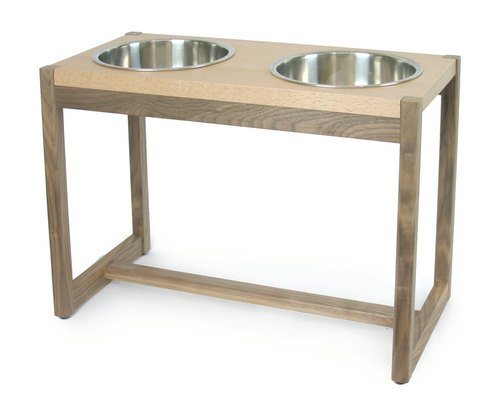 [Furniture] Mao big mouth meal rack - Double Bowl XL number, H33cm