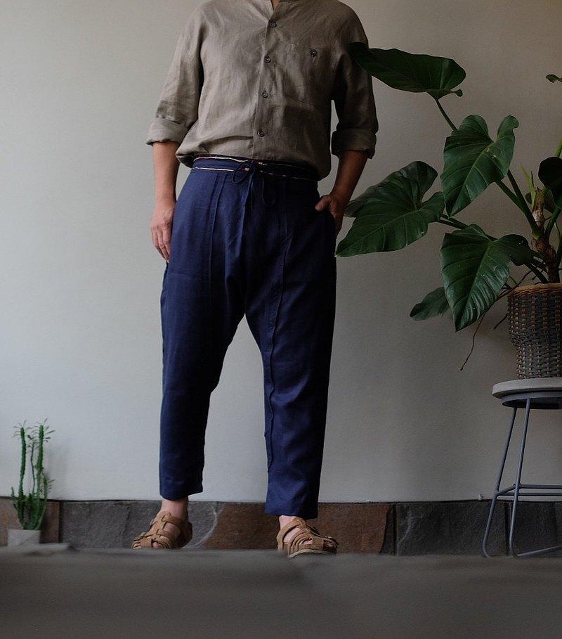 海軍藍褲子