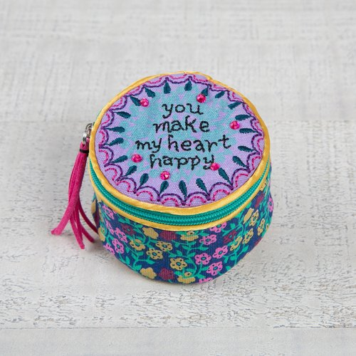 Embroidery jewelry box │ BAG210