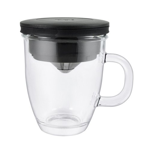 PO stainless steel filter cup mark set (black) 1-2cup