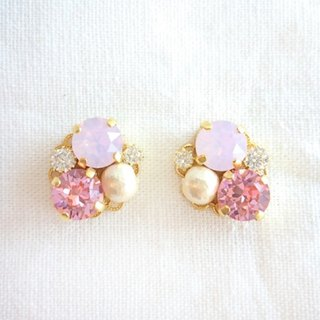 Pink Bijou earrings