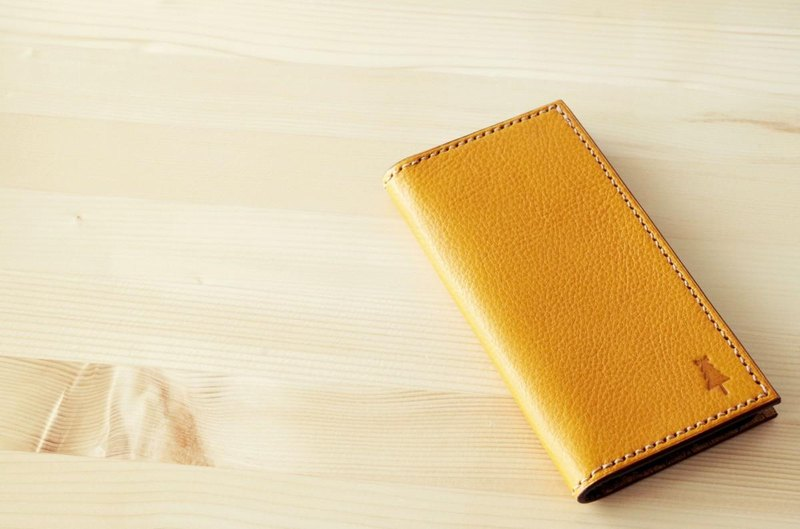 Italian leather iPhone case Yellow want to use long / Italian leather iPhone case # yellow