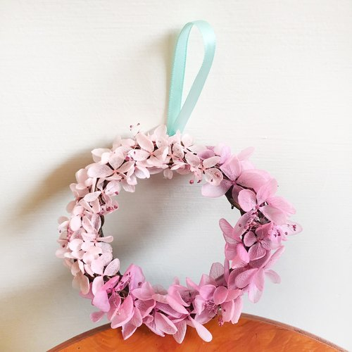 Hydrangea wreath small circle color flower wreath does not wither
