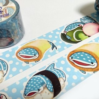 Tofu shark little spot whale shark paper tape - Japanese food articles