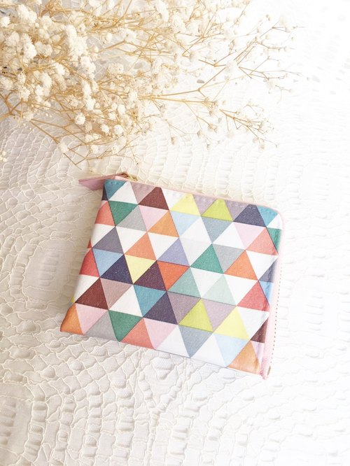 Christmas gift exchange gifts - color triangle pocket wallet