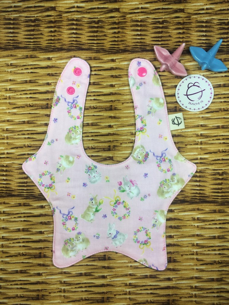 Pink rabbit treasure Star Star scarf bib