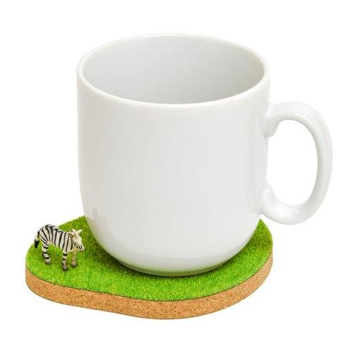 Shibaful Island Coaster  fox / polar bear / teddy bear / Spinosaurus / Zebra コルクコースター