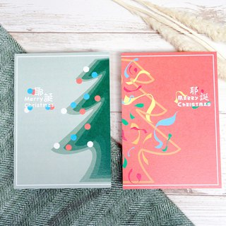 Christmas Card / Pine green + pink Taoka