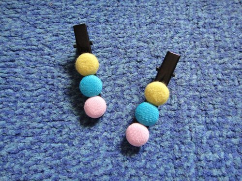 (C) A Bao old skin bubblegum _ cloth button long duckbill clip C20ALBZ64X28X29
