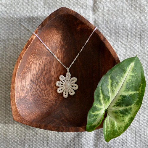 Lace Flower - Sterling Silver Necklace