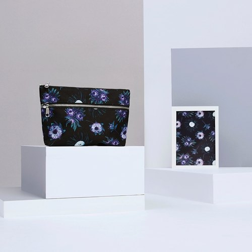 Purple Spring Cosmetic Bag | Pouch