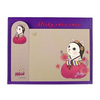 JETOY, sweet cat self adhesive sticky note _Wori J1711308