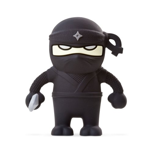 Bone / Ninja Dual Driver headed ninja flash drive - black (16G)