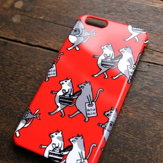 IPhone case cats (red)