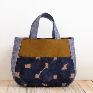 Handbag - blue x yellow EH100
