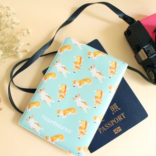 Bau Bau Corgi Passport Holder