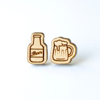 Plain wood earrings-Cheers