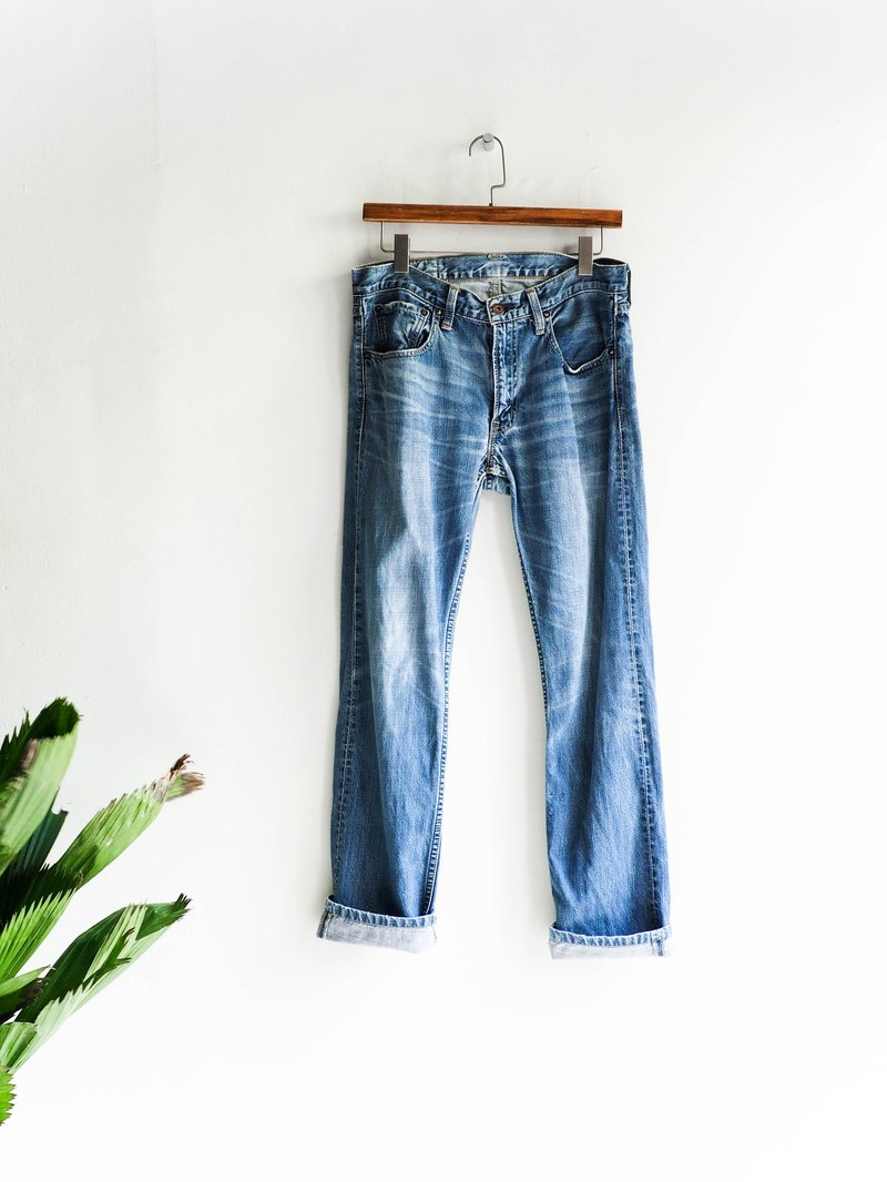 River water mountain - levis 506 / W32 Tokushima youth sea blue summer festival cotton tannin antique straight trousers antique denim pants vintage
