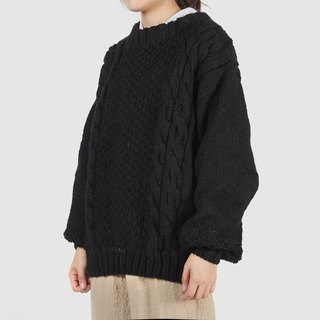 [Egg Plant Vintage] Night Shadow Twist Knit Vintage Sweater