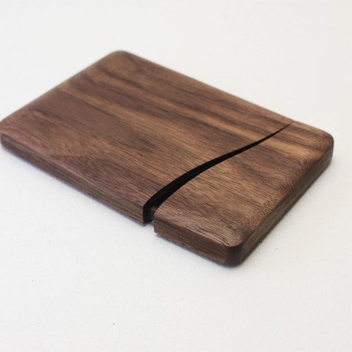 Slim name-card holder Walnut