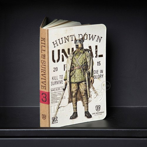 Boil Road X Mountain UNIMAL nine series of limited 224P PDA blank notebook - Wang Bindu