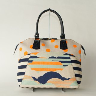dots/borders/stripes/boston bag Road Movie Classic (Orange)