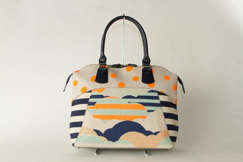 dots/borders/stripes/boston bag [Road Movie Classic (Orange)]