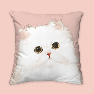 [I will love you forever] Classic white Persian pillow animal pillow / pillow / cushion