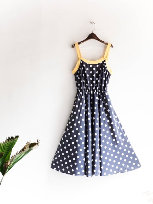 Heshuishan - Gunma warm goose x iron retro dots Sentimental girl antique silk dress dresses overalls oversize vintage dress