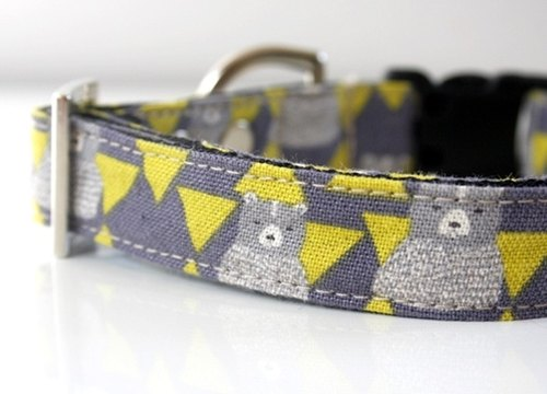 Cotton Linen Bear Triangle Dog Collar