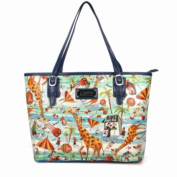 Stephy Designer  Sunshine and Beach Series Woman Cute Art Design Printed Shoulder Bag / Top Handles/ Tote Bag