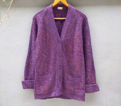 FOAK vintage Dior ore purple angora sweater coat