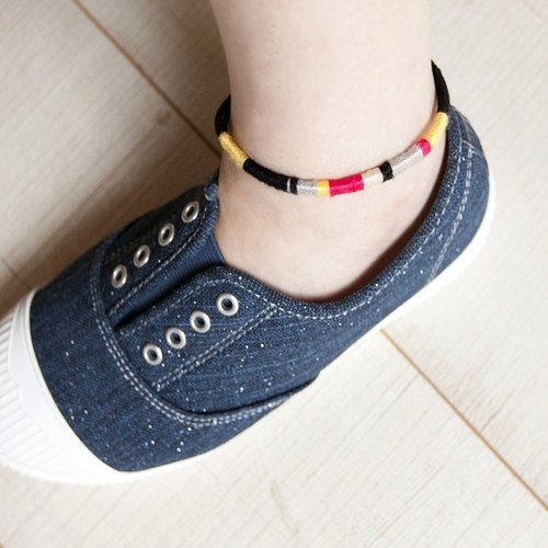 "Reggae Reggae Windmill Knitting Surfing Hand Ring / Anklet 2way ""Small Chain Club"" Male and Female Neutral Model BTW030"