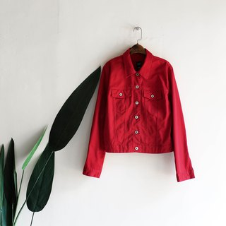 GAP Yamaguchi Flames Red Youth Love Handmade Antique Cotton Denim Shirt Tops Oversize
