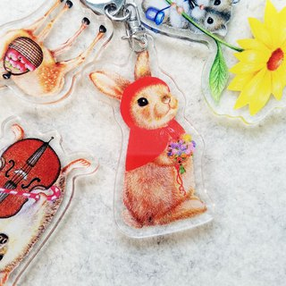 Keychain - Little Red Riding Hood Bunny