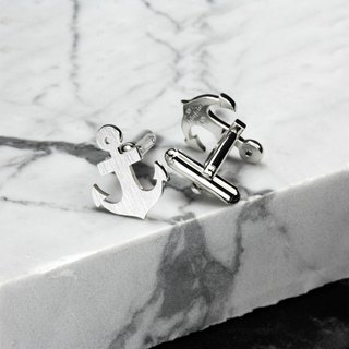 Anchor Cufflinks 925 sterling Silver- Anchor jewerly for men - Wedding cufflinks