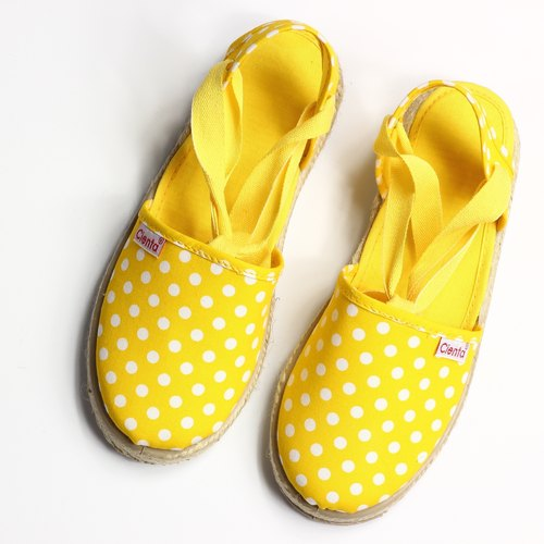 Spanish nationals yellow canvas shoes CIENTA 41088 04 children, child size