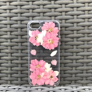 iPhone SE / 5S / 5 Dry Pressed Handmade Flowers Case Pink Flower case 001