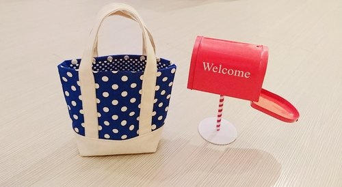 Mini Tote Bag little cloth round