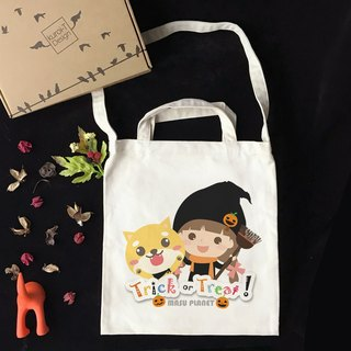 [Halloween Special] Illustrator Micky Trick or Treat Wenchuang Wind Straight Canvas Bag