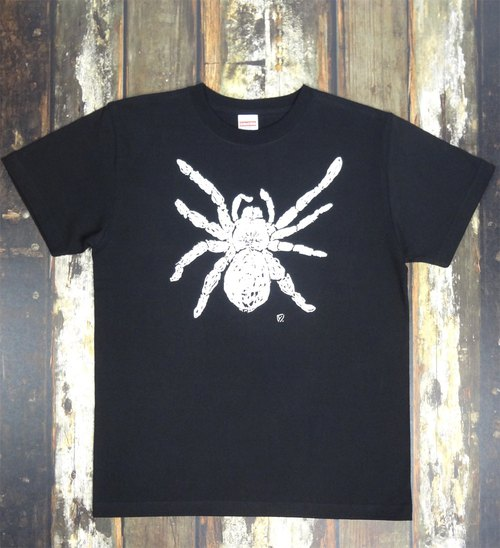 Tarantula spider web spider Men's T-shirt Black SM