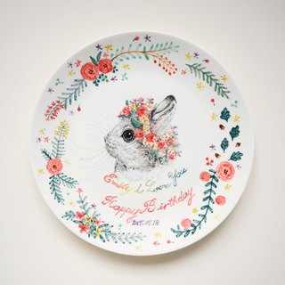 Hand-painted 10 吋 cake plate - dinner plate - custom exclusive pattern - customized