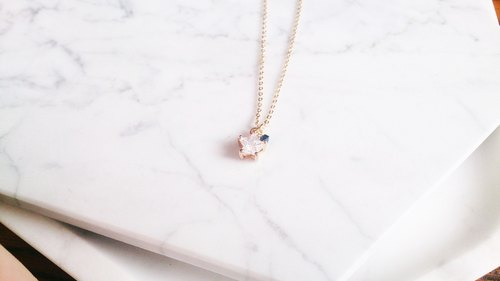 "Birthday gift ""Birthday crystal"" Fly Me to Polaris exclusive fine clavicle chain birthday (14 colors)"
