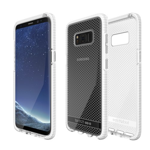 Tech 21 UK Super Impact Evo Check Samsung S8 + Collision Soft Prototype - Through White (5055517375870)