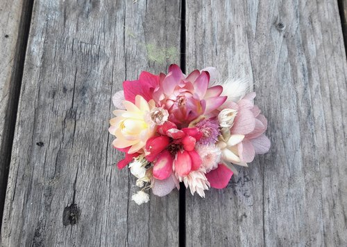 And real flowers || strawberry Melaleuca dry hair clip hair ornaments jewelry outside the film