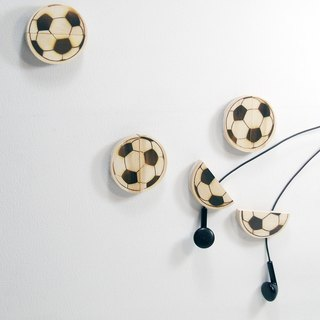 Football shape wood clamp headphone set birthday valentines unique customization