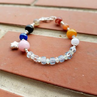 Girl Crystal World [Night] - Topaz Bracelet Bracelet Natural Crystal Gems Handmade